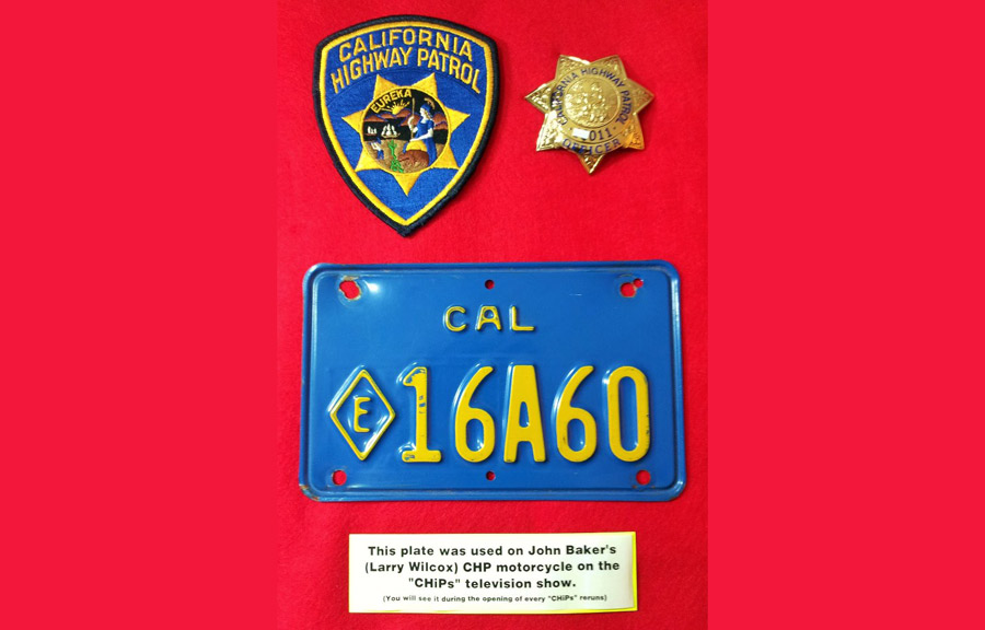 California police plate