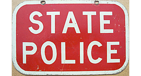 Connecticut police sign image