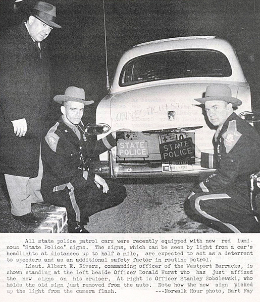 Connecticut police car and officers image