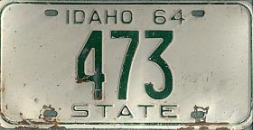 Idaho license plate image