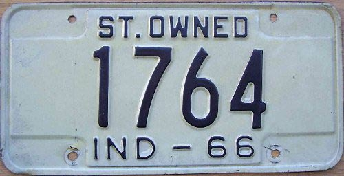 Indiana license plate image