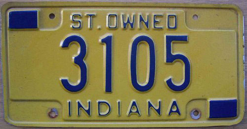 Indiana police license plate