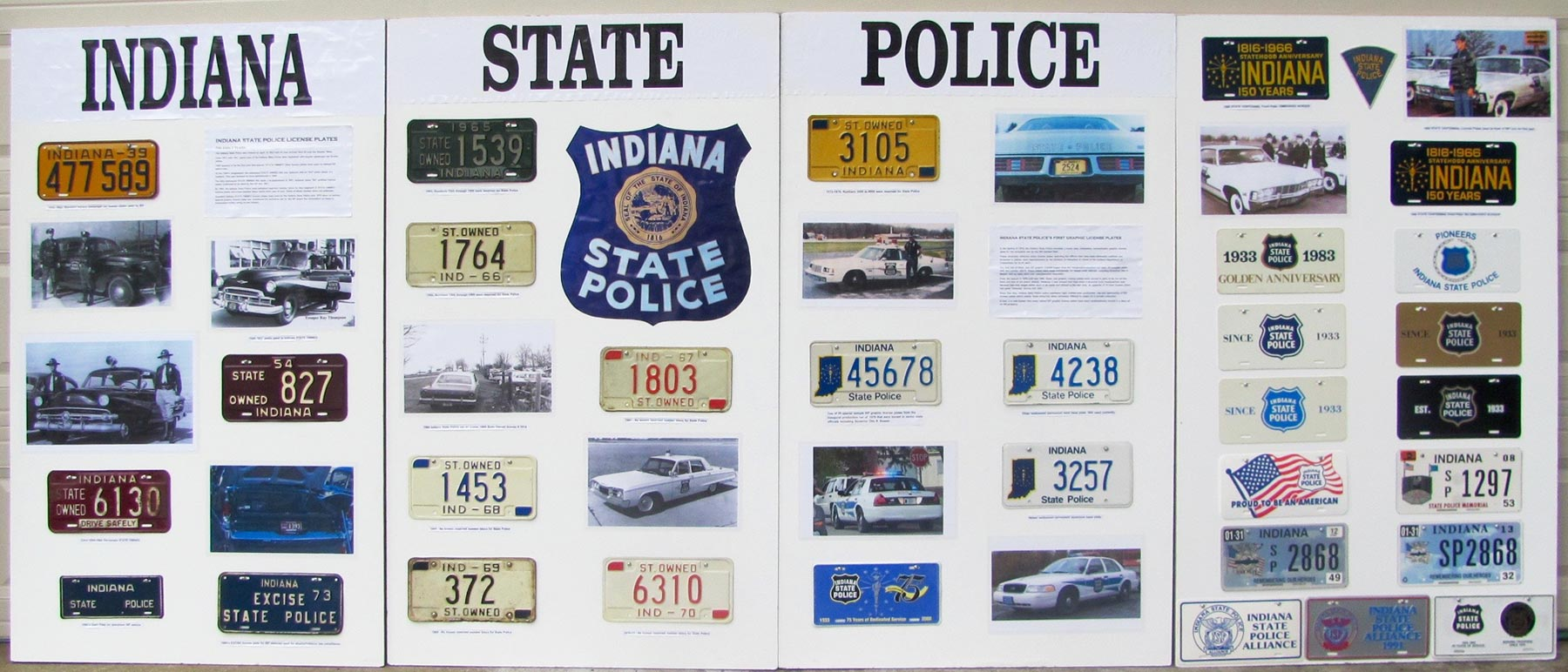 Indiana police plate display