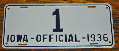 Iowa police license plate image