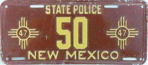 New Mexico license plate image