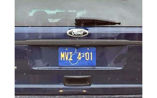 West Virginia  police license plate image