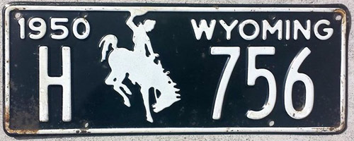 Wyoming  police license plate image